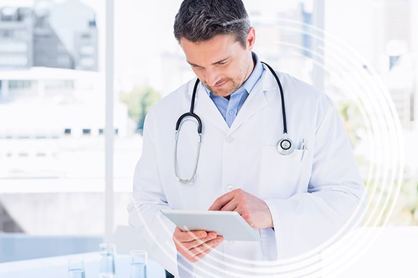 Physician on Tablet